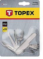Нож перочинный 11 лезвий, стальные накладки, нержавеющая сталь Topex 98Z116