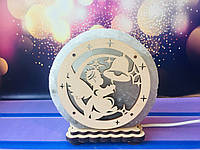 Соляная лампа Ангелочек с колокольчиком 12*6 см, фото 1