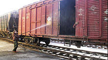Санитарная обработка пустых вагонов