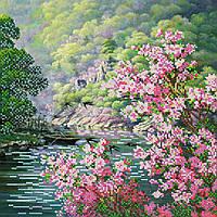 """Схема для вышивки бисером на натуральном художественном холсте """"Цвет весны"""""""