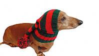 Шапка Санты для маленькой собаки универсальная