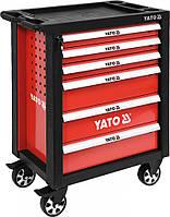 Сервисная тележка на колёсах с выдвижными ящиками 6 ед. Yato YT-55299