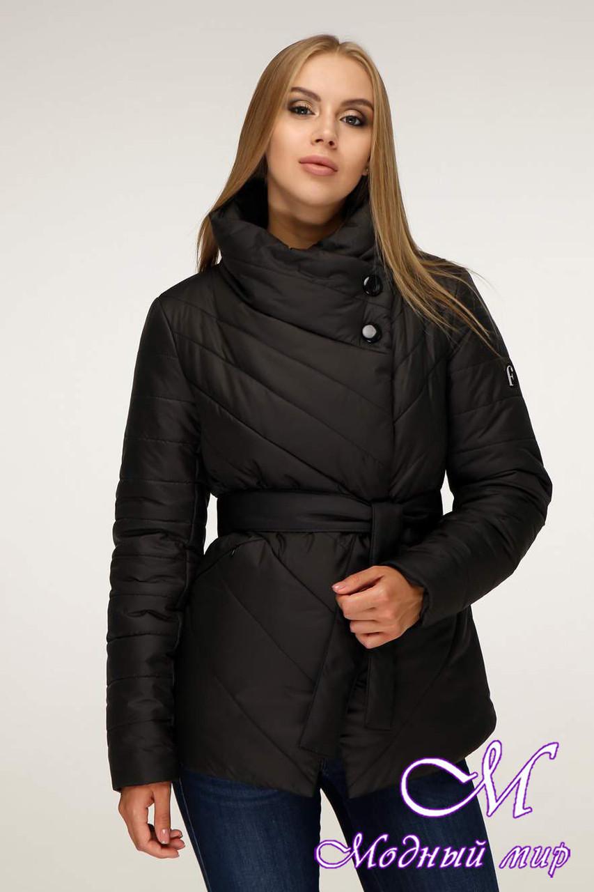 Женская осенняя куртка без капюшона (р. 44-54) арт. 1199 Тон 21