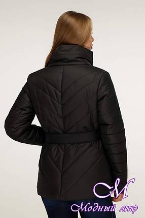Женская осенняя куртка без капюшона (р. 44-54) арт. 1199 Тон 21, фото 2