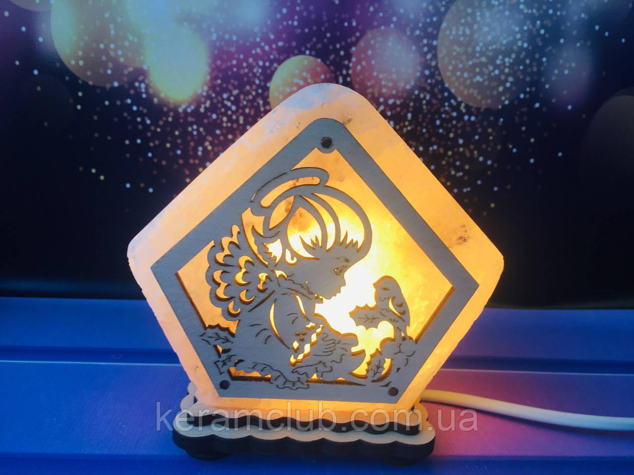 Соляная лампа Маленький ангел 9*13*6 см