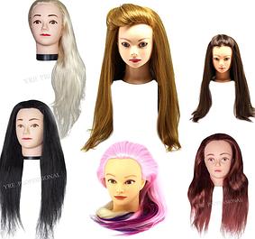 Головы с искусственными волосами