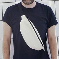 Сумка бананка BADABUMBAG белая, фото 1