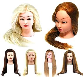 Головы с искусственным термо волосом