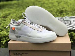 "Кроссовки Off White X Nike Air Force 1 Low - ""White"", фото 2"