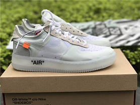 "Кроссовки Off White X Nike Air Force 1 Low - ""White"", фото 3"