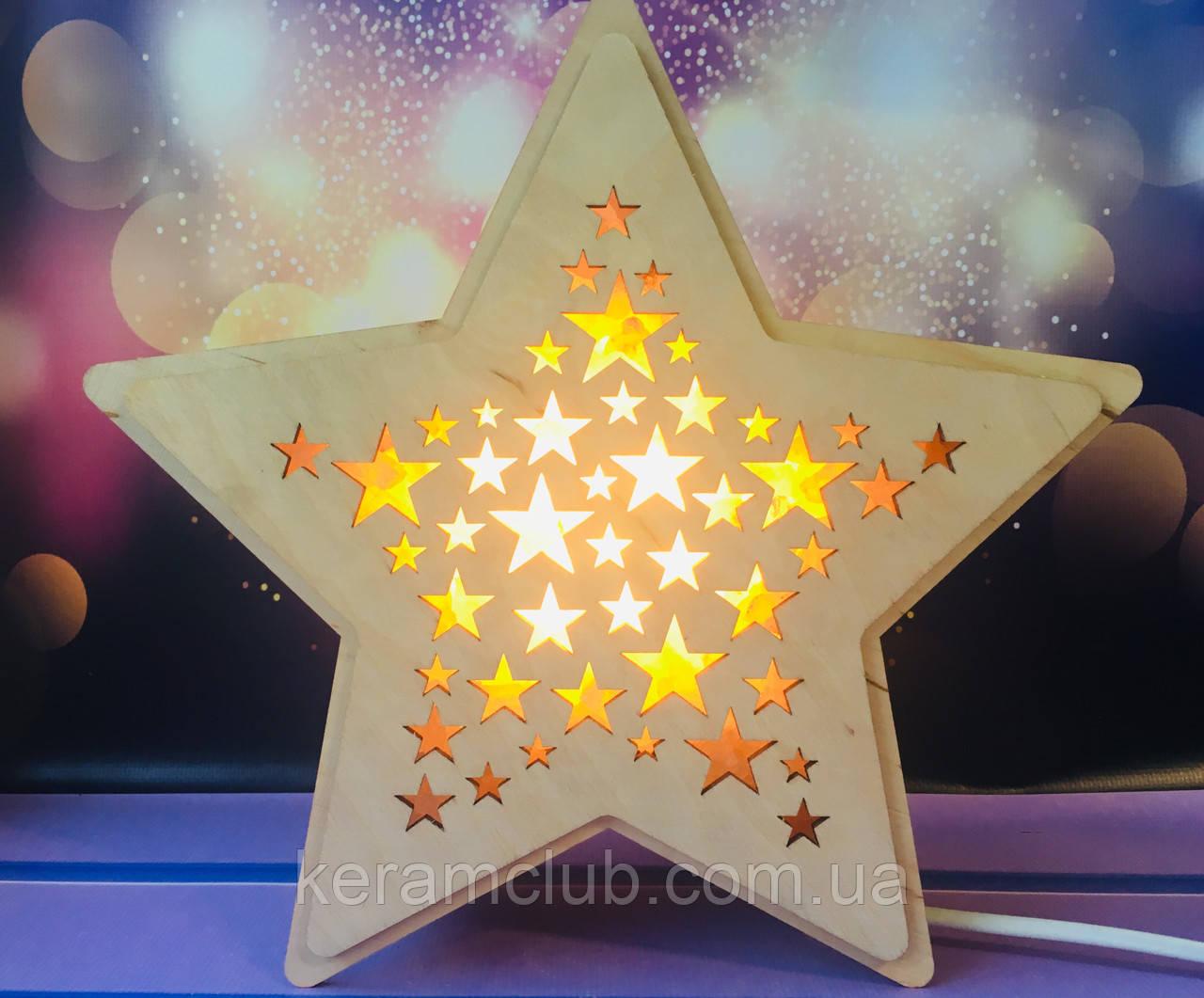 Соляная лампа Звезда 25*24*8 см