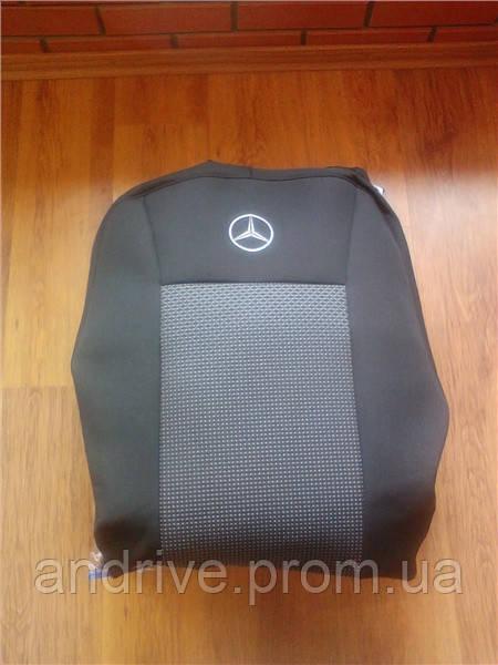 Авточехлы Mercedes W203 С-класс 2000-2006 г (раздельный диван)