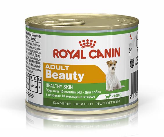 Корм для здоровья кожи и шерсти собак Royal Canin ADULT BEAUTY WET 0,195 кг