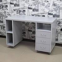 Передвижной стол для маникюра серого цвета