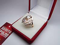 Золотое женское кольцо. Размер 18,7 Проба 375