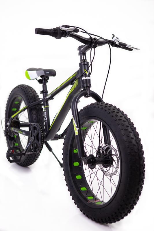 """Фэтбайк Горный велосипед """"S800 HAMMER EXTRIME"""" Колёса 20''х4,0. Алюминиевая рама '' Япония Shimano. Зеленый"""