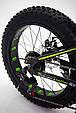 """Фэтбайк Горный велосипед """"S800 HAMMER EXTRIME"""" Колёса 20''х4,0. Алюминиевая рама '' Япония Shimano. Зеленый, фото 8"""