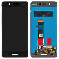 Дисплей (экран) для телефона Nokia 5 Dual Sim (TA-1024, TA-1053) + Touchscreen (original) Black