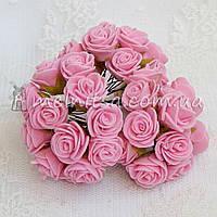 Розы из латекса, 1,5-2 см, розовый