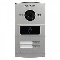 IP Відеопанель Hikvision DS-KV8202-IM /Ціна з ПДВ/ з камерой IP 1,3 Mп/ кут огляду 120/ PoE/DC 12V/ на двох абонентів