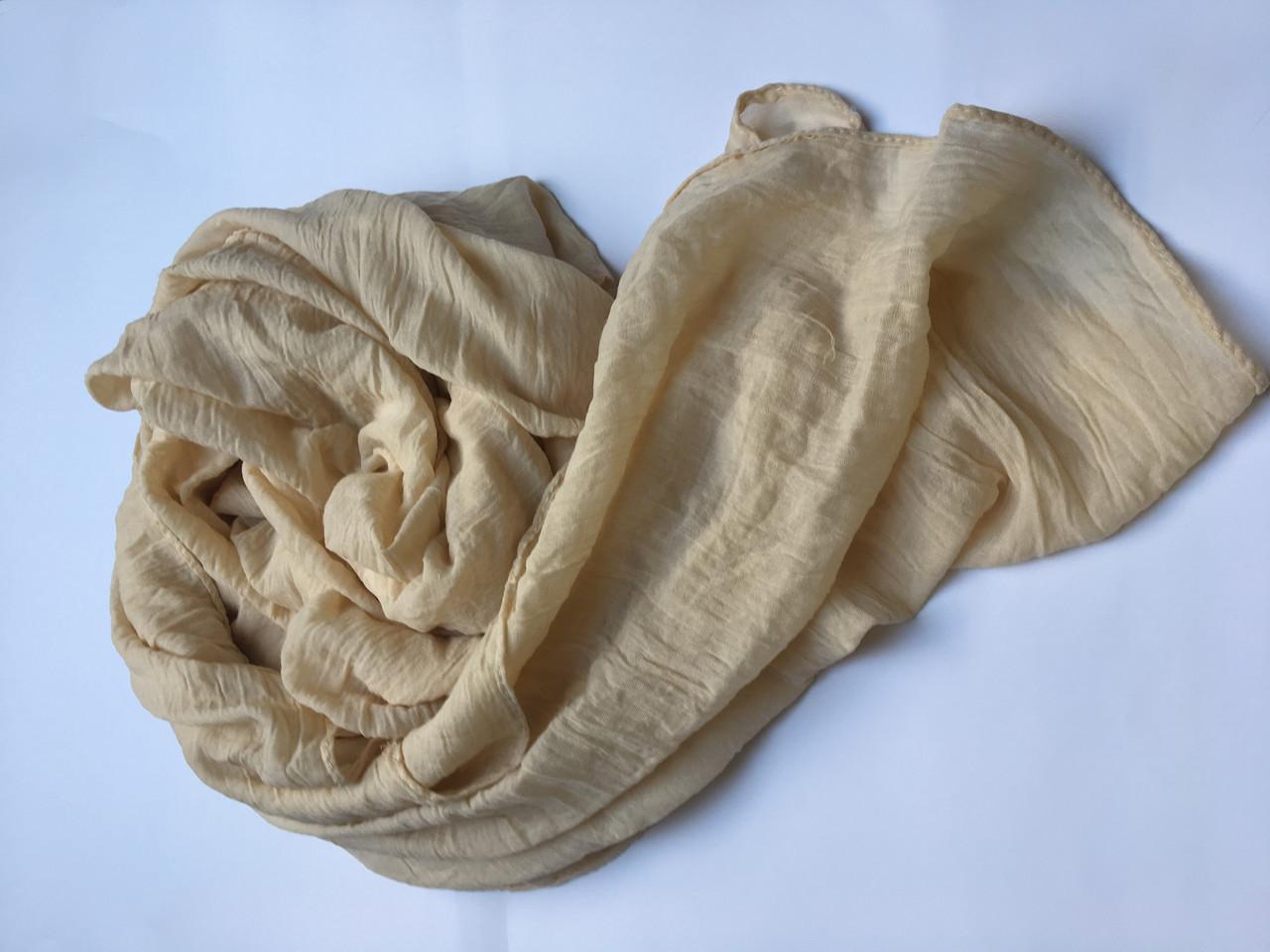 Женский шарф большой  бежевый  Lafeny