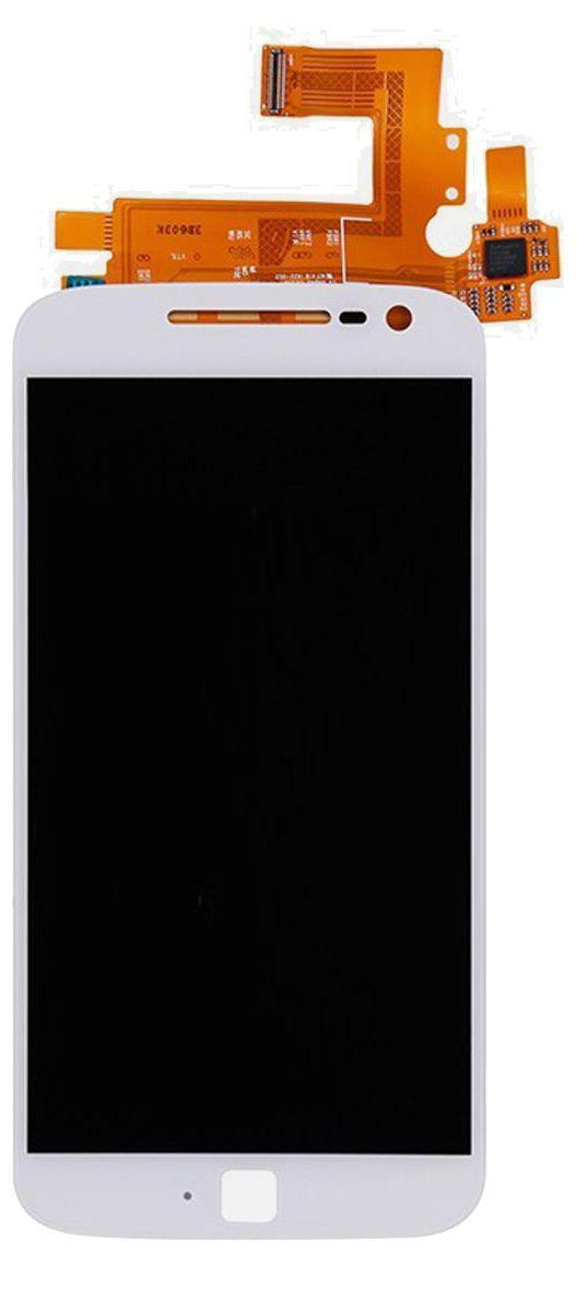 Дисплей (экран) для телефона Motorola Moto G4 Plus (XT1641, XT1642, XT1644) + Touchscreen White