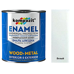 Алкидная эмаль для дерева и металла ПФ-115 Kompozit 12кг (Белый) (Композит)