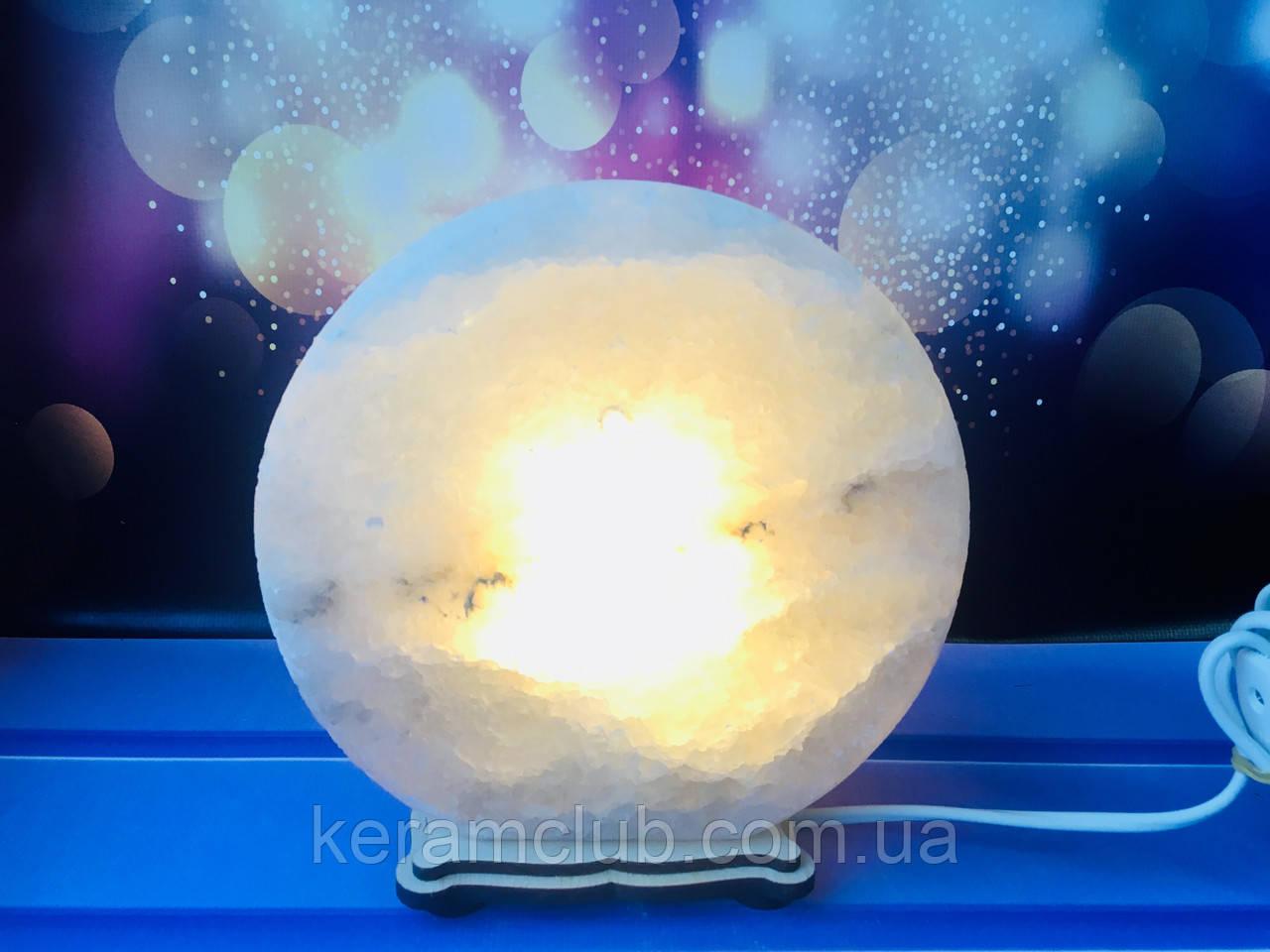 Соляная лампа круг 17*6 см