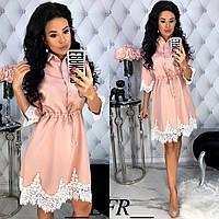 Женское красивое платье с кужевом, фото 1