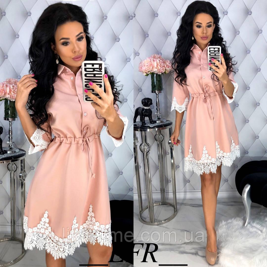 Женское красивое платье с кужевом
