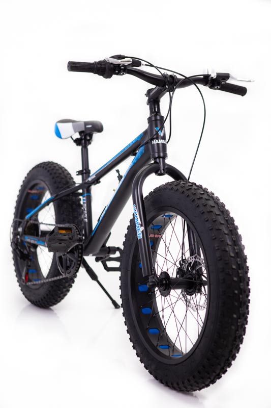 """Фэтбайк Горный велосипед """"S800 HAMMER EXTRIME"""" Колёса 20''х4,0. Алюминиевая рама '' Япония Shimano. Синий"""
