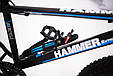 """Фэтбайк Горный велосипед """"S800 HAMMER EXTRIME"""" Колёса 20''х4,0. Алюминиевая рама '' Япония Shimano. Синий, фото 6"""
