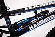 """Фэтбайк Горный велосипед """"S800 HAMMER EXTRIME"""" Колёса 20''х4,0. Алюминиевая рама '' Япония Shimano. Синий, фото 9"""