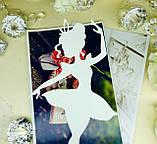 Топпер балерина, балеринка на торт, топер дівчина , топпер дівчина з короною, силует танцююча балеринка, фото 5