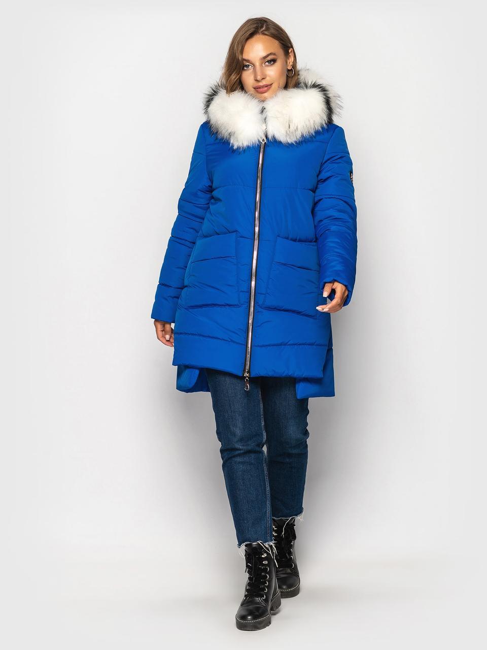 Модная зимняя куртка Лузанна электрик(44-54)