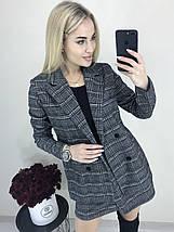 Стильный костюм-двойка пиджак и юбка /темно-серый в клетку, 42-46, ft-423/, фото 2