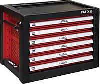 Шкаф для инструментов с 6 шуфлядами 533х 397х 55 мм, 690x 465x 535 мм Yato YT-09155