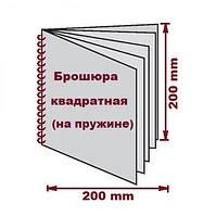 Печать Евро брошюр, не стандартный формат, 200*200 мм на пластиковую или металлическую пружину