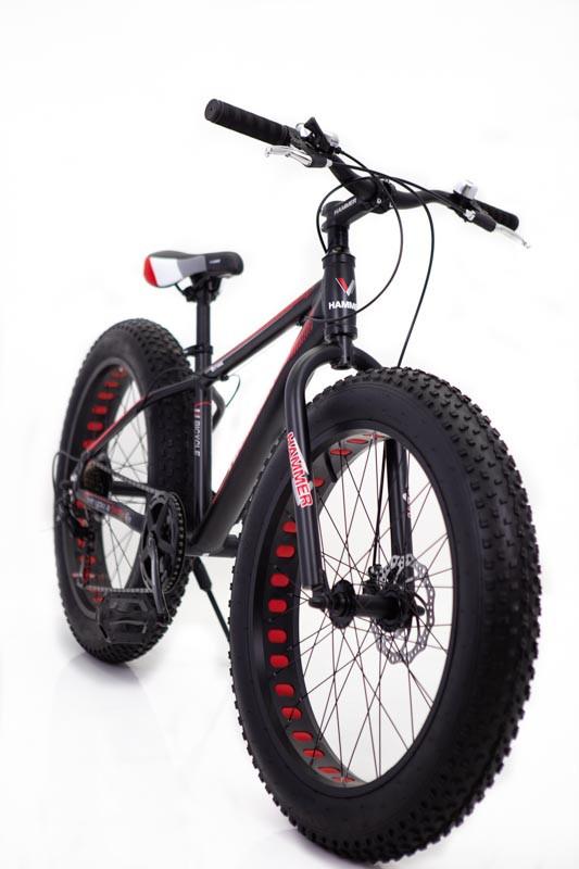 """Фэт Байк-Горный Велосипеды """"S800 HAMMER EXTRIME"""" Колёса 26''х4,0. Алюминиевая рама 17'' Черно-оранжевый."""
