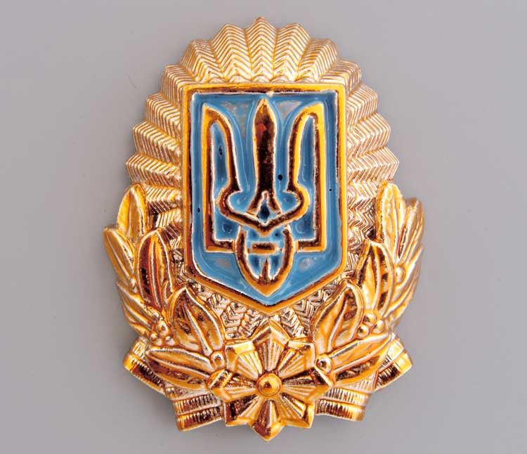Кокарда МВС України горішок