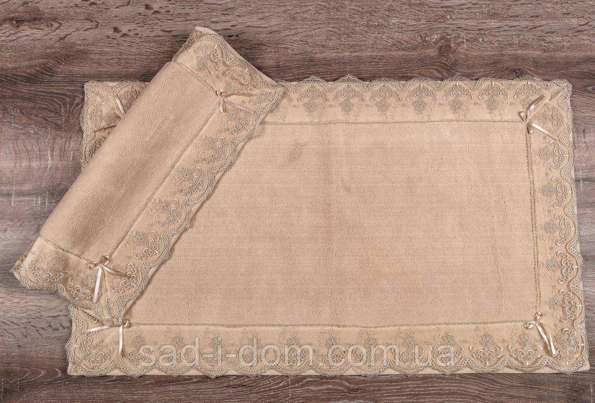 Набор ковриков для ванной, коврик в ванную, хлопковый коврик с кружевом, Maco