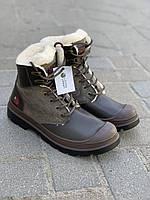 Ботинки женские коричневые на шнурках  Литма, фото 1