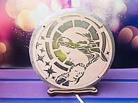 Соляной светильник Божья Матерь d 17 см, фото 1