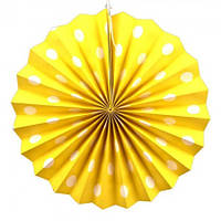 Веерный круг (картон) 30см (желтый 0019)