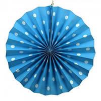 Веерный круг (картон) 40см (голубой 0001)