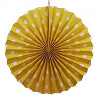 Веерный круг (картон) 40см (желтый 0019)