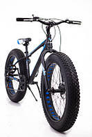 """Фэт Байк-Горный Велосипеды """"S800 HAMMER EXTRIME"""" Колёса 26''х4,0. Алюминиевая рама 17'' Черно-оранжевый. Синий"""