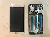 Дисплей (LCD) Meizu M6 Note (M721H) с сенсором белый + рамка