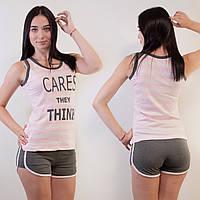 Комплект двойка женский: майка и шорты Miss Victoria Турция S-M, L-XL   1 шт.