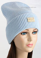 Удлиненная шапка с отворотом Магл цвет иней
